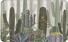 CIKYOWAY Bathroom Mat Style Cactus,Door Mat Bath