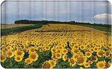 CIKYOWAY Bathroom Mat Sunflower,Door Mat Bath Mat