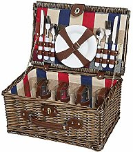 Cilio Lennno Wicker Picnic Basket, Brown, One Size