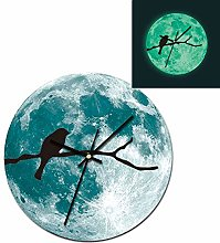 cilyberya 30cm/11.8in Full Moon Wall Clock Silent