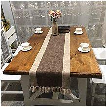 Cinnanal Brown Beige Festive Coffee Table Runner