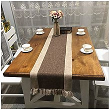 Cinnanal Brown Beige Festive Coffee Table Runner