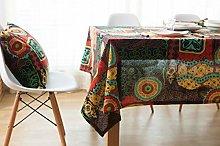 Cinnanal Cotton Linen Waterproof Tablecloth Easy