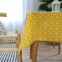 Cinnanal Cotton Linen Waterproof Tablecloth