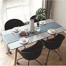 Cinnanal Cyan Coffee Table Runner 32x220cm Velvet
