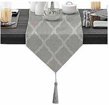 Cinnanal Gray Table Runner Modern 30x240cm Cotton