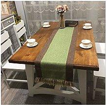 Cinnanal Green Brown Large Dining Table Runner