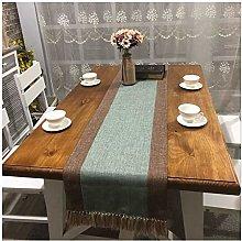 Cinnanal Grey Blue Brown Table Runner Kitchen