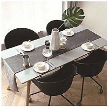 Cinnanal Grey Table Runner Long 32x240cm Velvet