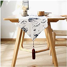 Cinnanal Navy Blue Festive Coffee Table Runner
