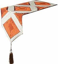 Cinnanal Orange Table Runner Home 32x240cm Cotton