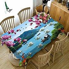 Cinnanal Rectangular Tablecloth for The Kitchen