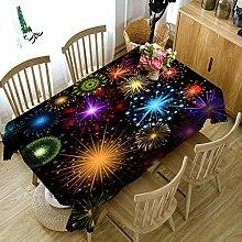 Cinnanal Rectangular Tablecloth Stain Proof