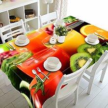 Cinnanal Rectangular Wipe Clean Tablecloth Large