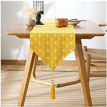 Cinnanal Yellow Table Runner Modern 33x180cm