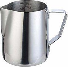 CINY Coffee Milk Frother Jug 600ml, Metal Milk Jug