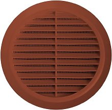Circle Air Vent Grille Cover 125mm Ducting Brown