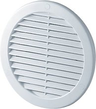 Circle Air Vent Grille Cover 125mm Ducting White