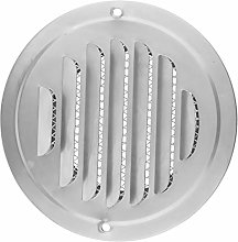 Circle Air Vent Grille Cover Silver 70-120mm