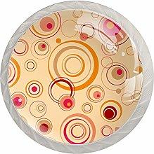 Circle Orange White Drawer Handles Furniture Glass