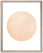 Circle Scandi Framed Print, 57 x 47cm, Brown