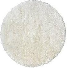 Circle Shaggy Rug - White