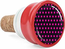 Circles Art Pink Wine Cork Wine Bottle Stoppers