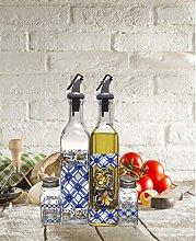 Circleware Cucina Dual Glass Olive Oil and Vinegar