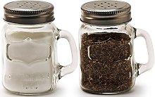 Circleware Glass Mini Mason Jar Mug Salt and