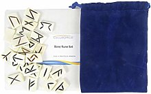 CircuitOffice 25 Piece Bone Rune Set, for Occult,
