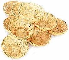 Circular 20 cm Wicker Basket - Bamboo - Kitchen