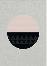 Circular Graphic Art Print on Paper Hykkon