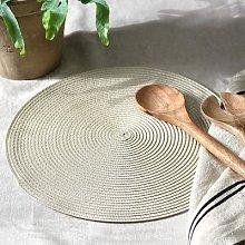 Circular Ribbed Placemat Linen