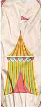 Circus Area Runner Rug, 2'x4', Circus Tent