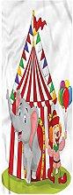 Circus Indoor/Outdoor Runner Rug, 1.3'x4',