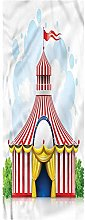 Circus Runner Rug, 2'x4', Striped Tent