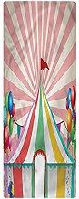 Circus Runner Rug, 2'x4', Vintage Circus
