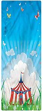 Circus Runner Rug, 2'x6', Circus Tent with