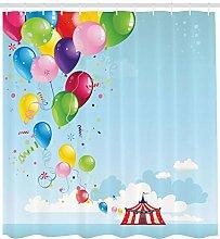 不适用 Circus Shower Curtain Carnival Tent