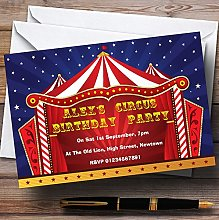 Circus Tent Theme Personalised Birthday Party