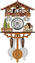 Cirdora Wooden Cuckoo Clock Traditional Black