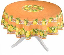 Citrus Orange French Provencal Tablecloth -