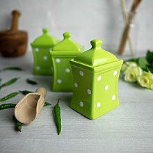 City to Cottage® Lime Green and White | Polka Dot
