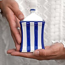 City to Cottage® Navy Blue Striped   Handmade