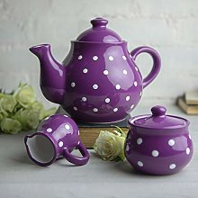 City to Cottage® Purple and White Polka Dot