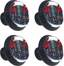Cityscape 4PCS Round Drawer Knob Pull Handle
