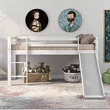 Ciuitixi Childrens Cabin Wooden Bed Frame with