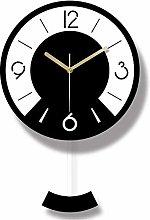 cjcaijun Wall clock Acrylic Black And White