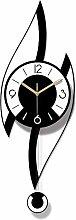 cjcaijun Wall clock Creative Acrylic Black And