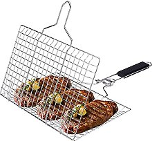 CJCSM Stainless Steel Grill Basket, Portable BBQ